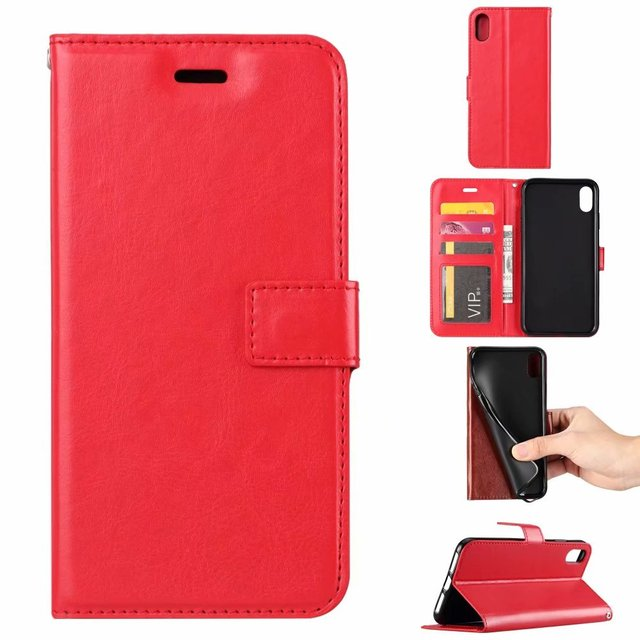 new style 97559 154f7 US $31.8 |10pcs/lot phone leather case For iphone 9 plus Soft TPU + PU  Leather Crazy Horse Wallet Case For iphone 9 -in Wallet Cases from  Cellphones & ...