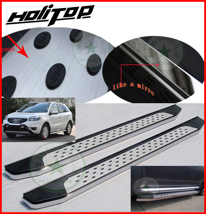 side step foot bar running board for Renault koleos,thick stainless steel+ABS,factory direct wholsesale,great discount!2008-2016
