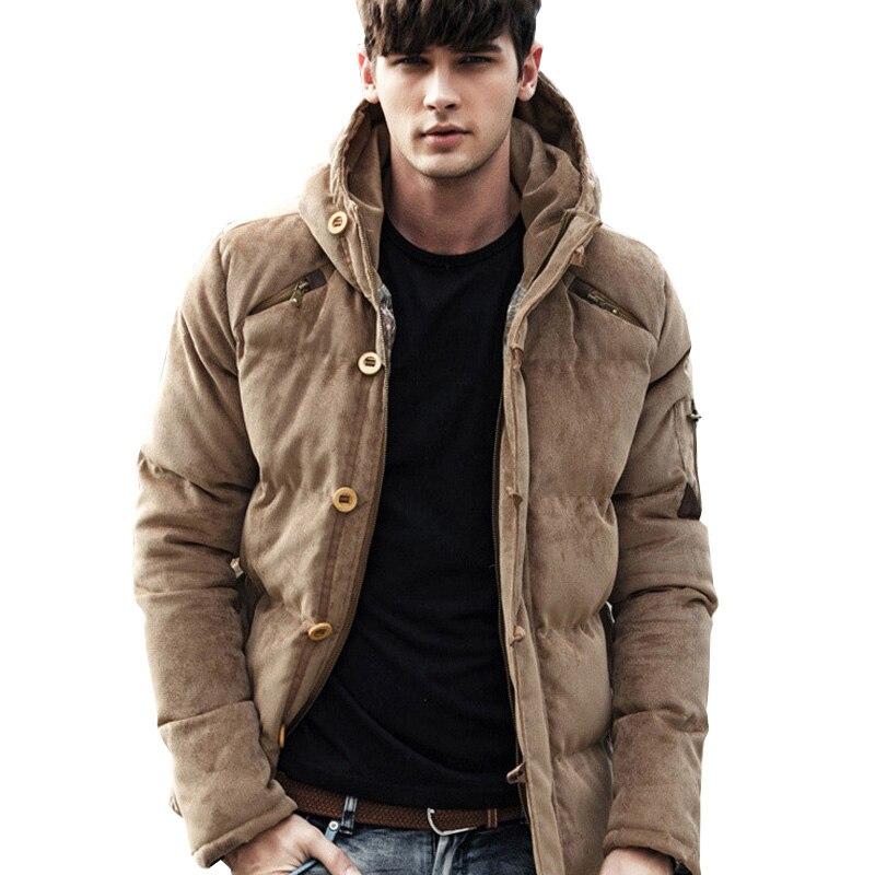 Trasporto di goccia nuovi uomini di inverno Casual giacca militare cappotto con cappuccio ispessimento tenere in caldo parka XP18-in Parka da Abbigliamento da uomo su  Gruppo 1