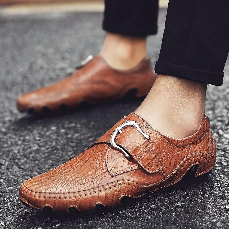 Couro Marca Sapatas Qualidade Em Sapatos Masculinos Alta Jacaré De Homens Relevo Black Da Mocassins Dos brown fwtqBrSt0