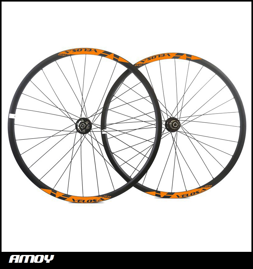 Hot style 29er carbon fiber mountain bicycle wheels 29er MTB wheels with Novatec disc hub D771SB/D772SB hub light bicycle roda mtb 29 carbon rear wheels