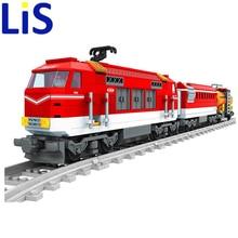 Lis 588pcs City Series Train with Tracks Building Blocks Railroad Conveyance Kids Model Bricks Kids toys Christmas gifts