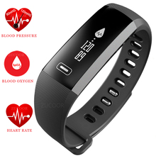 Smart Wristband Watch Bracelet Heart Rate Blood Pressure Oxygen Oximeter Life Waterproof Bluetooth Band For iOS Android Xiaomi