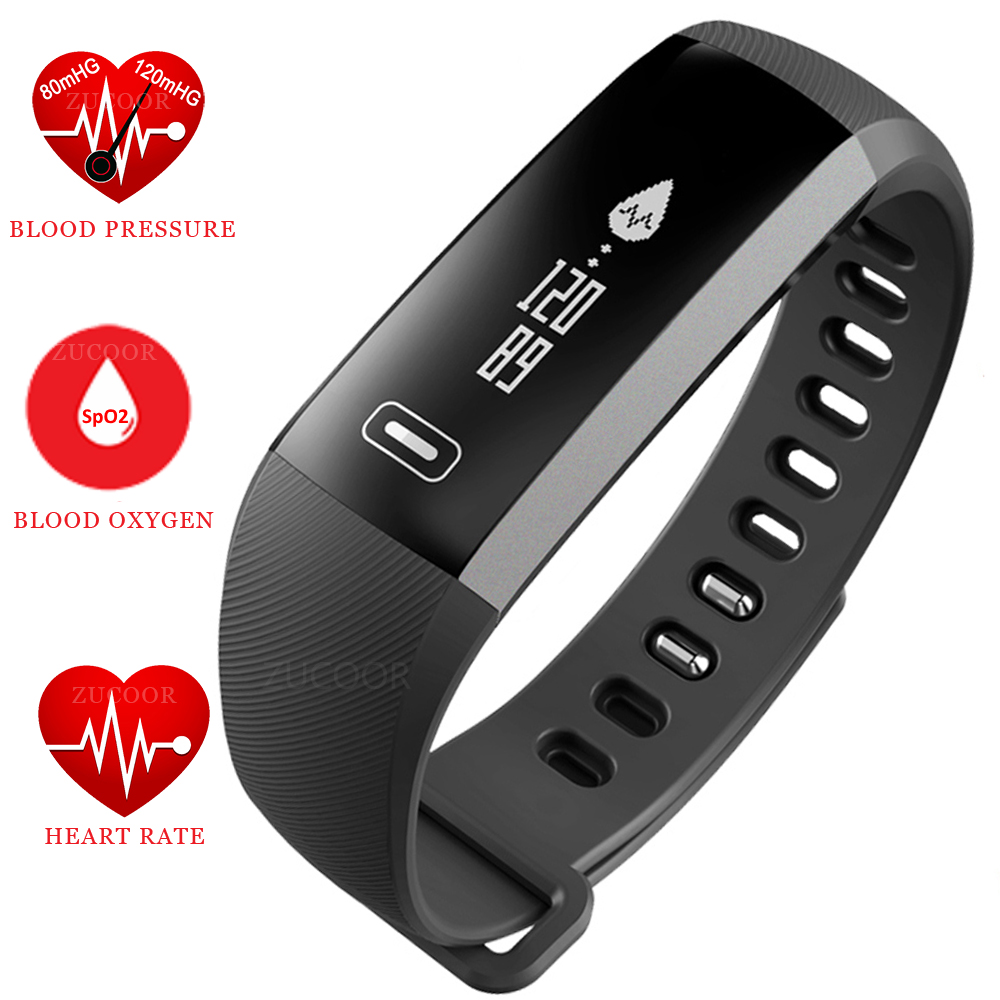 Smart Wristband Watch Bracelet Heart Rate Blood Pressure Oxygen Oximeter Life Waterproof Bluetooth Band For iOS