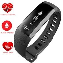 Smart Браслет Часы сердечного ритма Приборы для измерения артериального давления кислорода оксиметр жизни Водонепроницаемый bluetooth группы для IOS Android Xiaomi