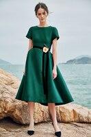 Printed silk dress women 2019 new short sleeve mulberry silk temperament elegant slim waist in long