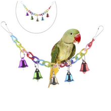 Birds Toys Funny Cockatiel Parakeet Conure  Bites Toy Parrot Swing Cages Chew Acrylic Suspension Bridge Climbing Rope