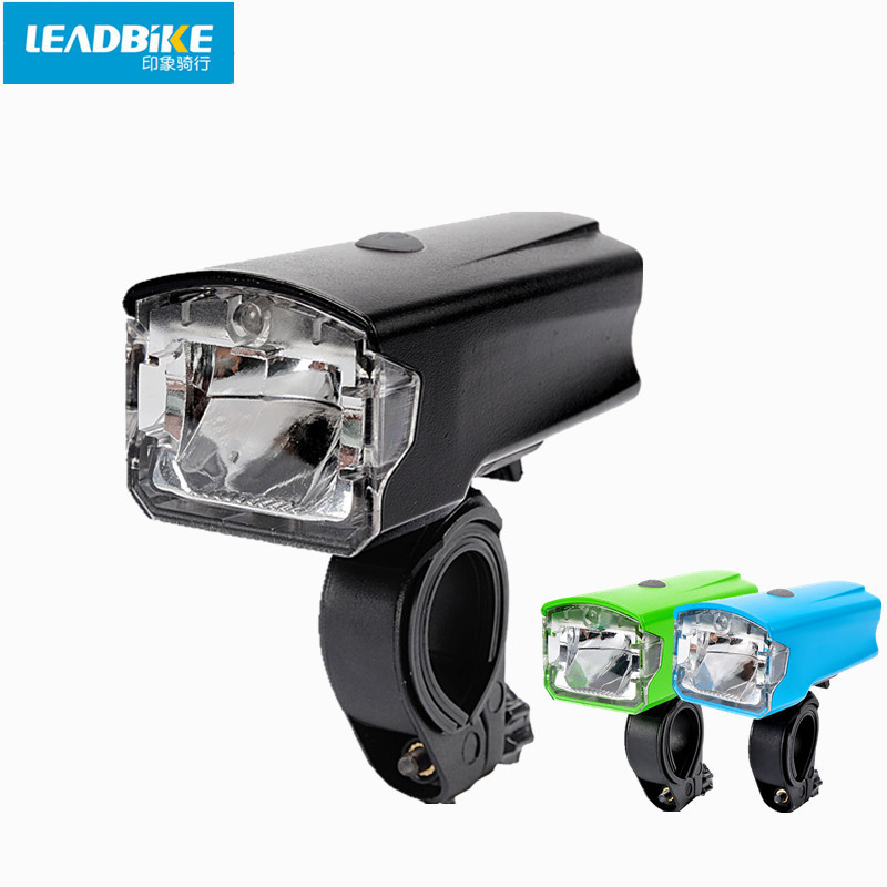 Leadbike Waterproof USB Rechargeable Bicycle Front Light ABS LED MTB Bike Head Flash Light Night Riding Cycling Safe Lamp