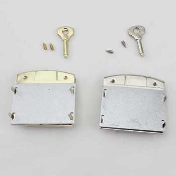 20pcs Light gold,Silver Color 50X50mm handbags bags metal key lock replacement,Bags Handbags New Closured Pushed Snap Lock