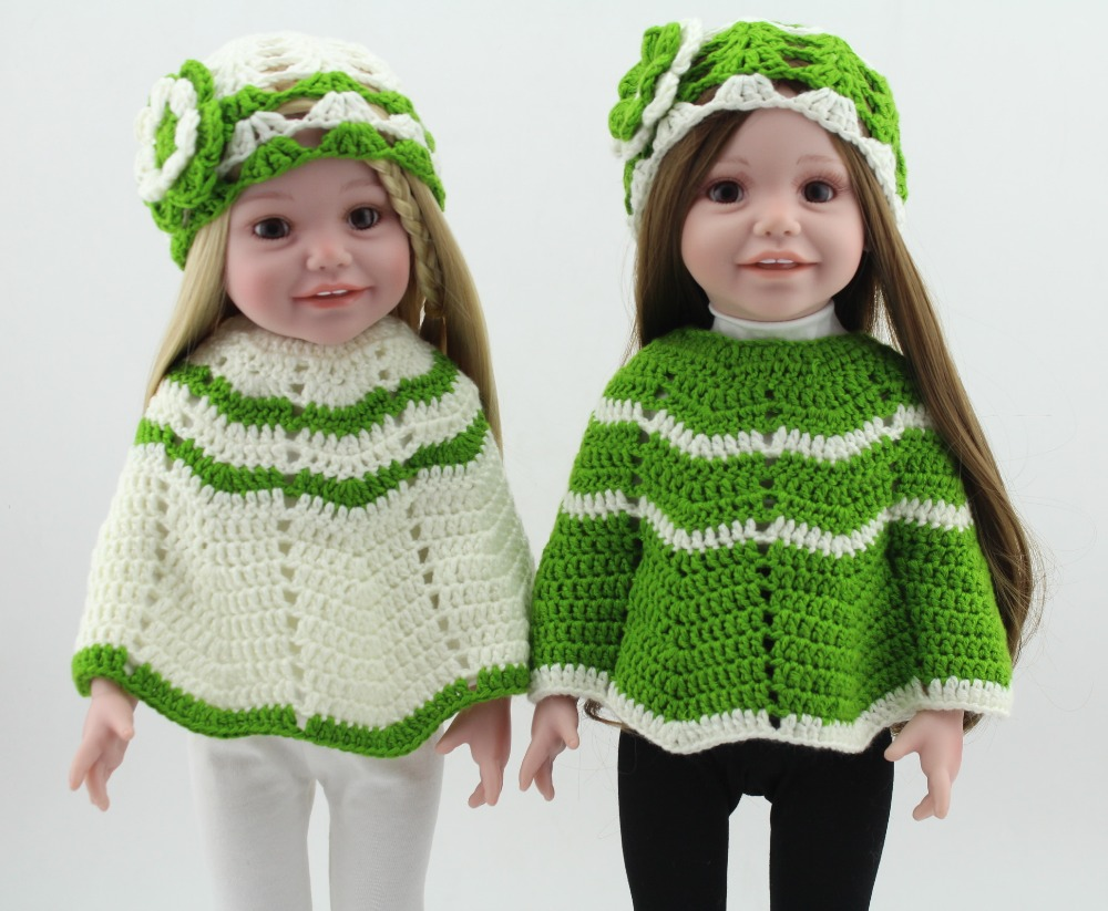 Poupée américaine jumeaux bébés Reborn poupée fille vert blanc mignon princesse cadeaux d'anniversaire réaliste nouveau-né bébés Boneca tricot