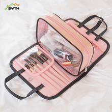 SYTH Fashion Women Clear Cosmetic Bags PVC Toiletry Bags Travel Organizer Necessary Beauty Case Makeup Bag Bath Wash Make Up Box new arrival travel pvc cosmetic bags women transparent clear zipper makeup bags organizer bath wash make up tote handbags case