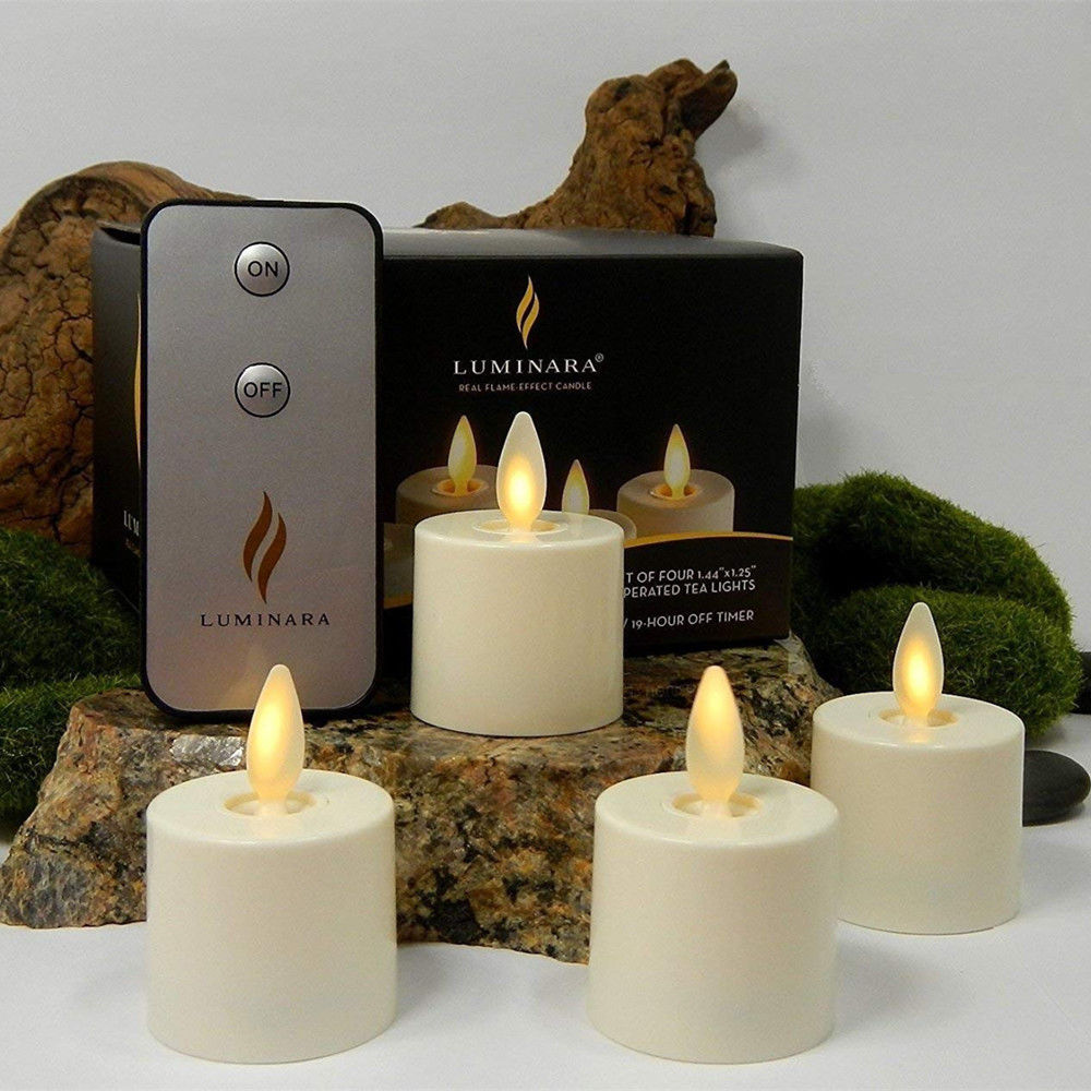 Luminara Tea Light Flameless Led Candles With Remote And