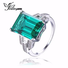JewelryPalace Luxurious 5.9ct Created Inexperienced Nano Russian Emerald Cocktail Ring For Girls Pure 925 Sterling Silver Jewellery Fantastic Ring