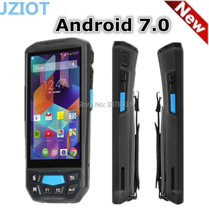 5.0 Inch Touchscreen Vingerafdruk Wifi Bluetooth 2d Code Scanner Android Handheld Pda Met Printer