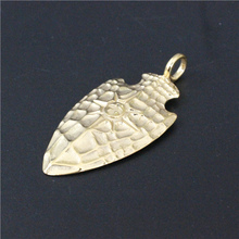 Golden Shield Steel Pendant