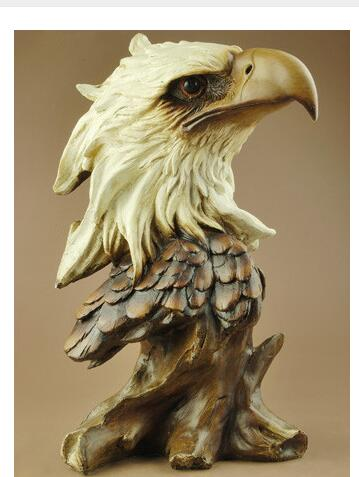 A European resin home ornaments resin eagle head living room desk decoration crafts souvenir business gifts hotel decor artwareA European resin home ornaments resin eagle head living room desk decoration crafts souvenir business gifts hotel decor artware