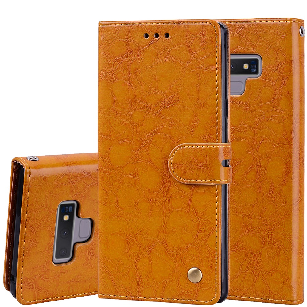 Note 9 PU Leather Flip Cases For Samsung Galaxy Note 9 Case 6.4'' Wallet Card Slot Soft Silicon Kickstand for Galaxy Note9 Cover