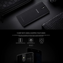 "Multilingual Dual Camera Mobile Phone 5.5"" with Protective Case"