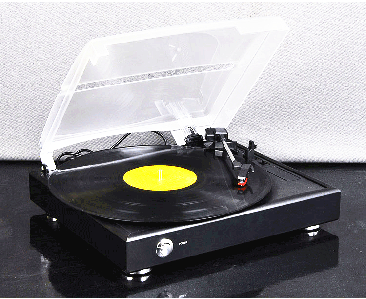 [China] Gramophone Vinyl Record Player Portable Stereo LP Turntables PC  Computer Turntable Phono(