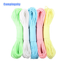 Paracord 550lb 9 Strand 5 colors Glow In Dark 31 Meter/100FT /Bundle Survival Paracord PENDANTS
