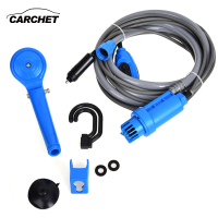 CARCHET 12V Electric Car Washer Plug Outdoor Camper Caravan Van Portable Camping Travel Shower Universal