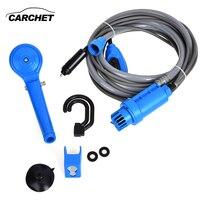 CARCHET 12V Electric Car Washer Plug Outdoor Camper Caravan Van Portable Camping Travel Shower Universal