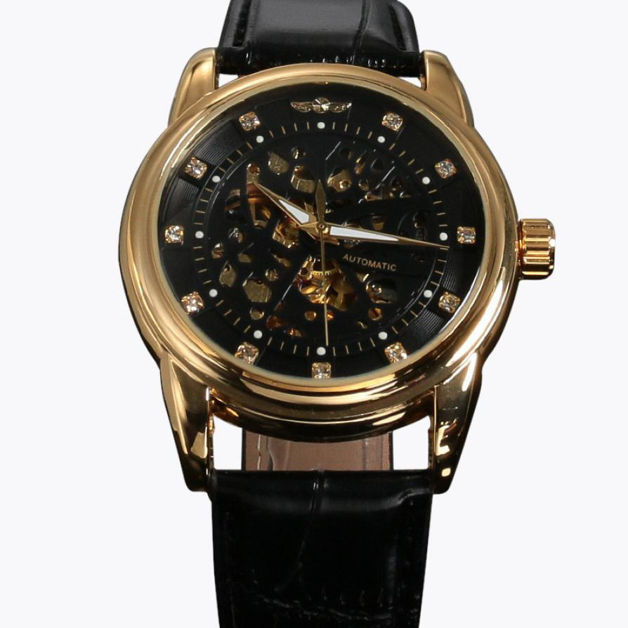 Xiniu Fashion font b Men b font Watches Classic Transparent Steampunk Skeleton font b Mechanical b
