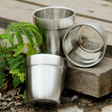 Tiartisan Outdoor Camping Double Wall 304 Stainless steel  Beer Cup delicately ultralight