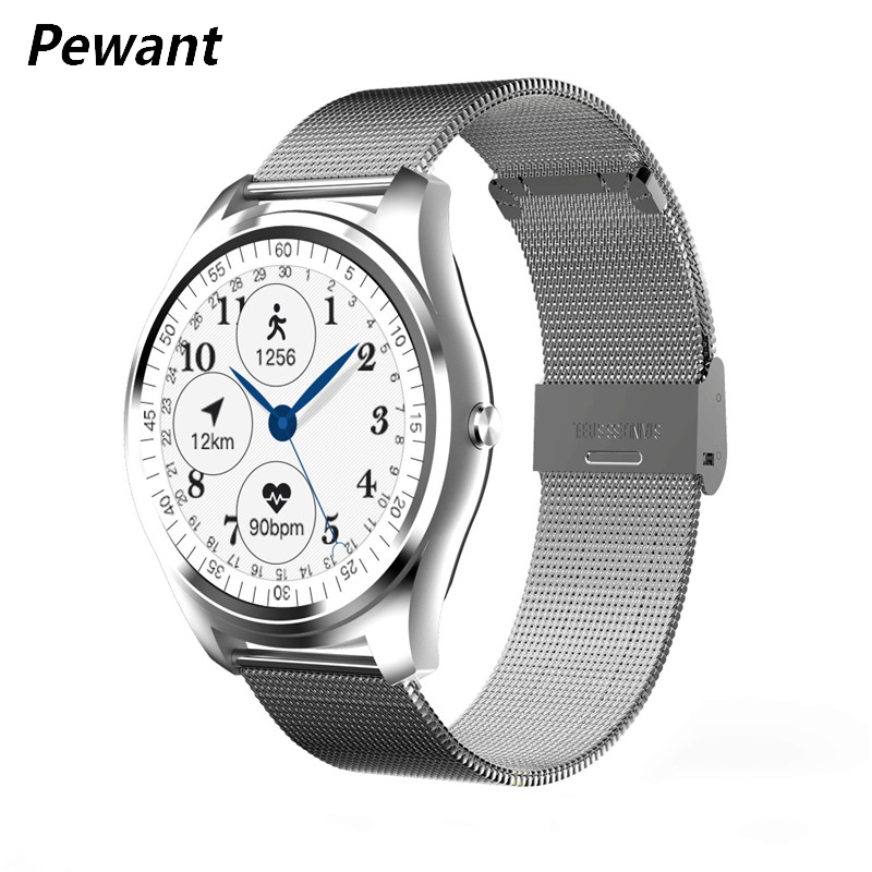 Pewant Smart Watch 1.3 Inch IPS Screen Bluetooth 4.0 Smartwatch With Heart Rate Monitor Fitness Tracker For iOS Android Clock стоимость