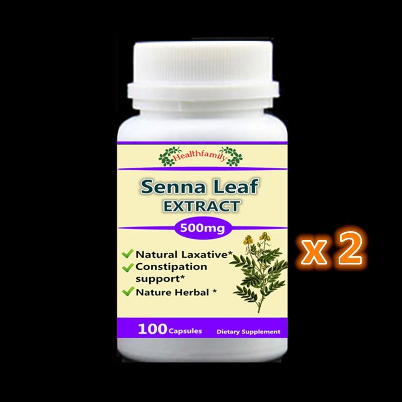 Senna Leaf Extract Capsule 500mg x 200pcs Natural Laxative Constipation Support Improves Metabolism senna senna se028lwhf055