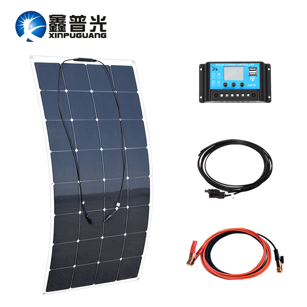160w flexible solar panel Mono cell 12v/24v 20A PMW controller MC4 connector cable for 12v solar system battery charger flexible solar panels 25w for boats with connection box 0 9m cable mc4 connector 12v