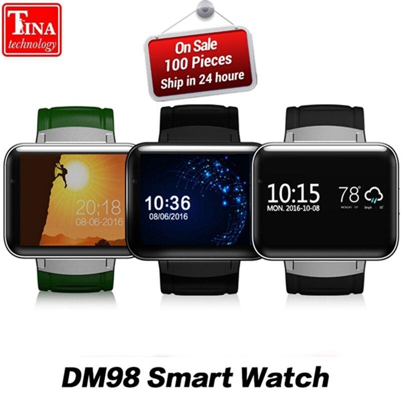 DM98 Smart Watch MTK6572 2.2 inch Screen 900mAh Battery 512MB Ram 4GB Rom Android OS 3G WCDMA GPS WIFI Smartwatch Stock