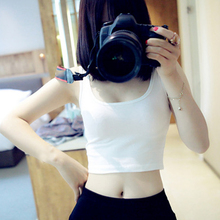 Fashion 1PC 12Colors Short Top Slim Sexy Sleeveless Vest Tank Tops Render Summer Free Size
