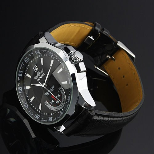Relogio Masculino Winner Brand New Men s Automatic Mechanical Watches Leather Strap Watch Fashion Sports Men Innrech Market.com