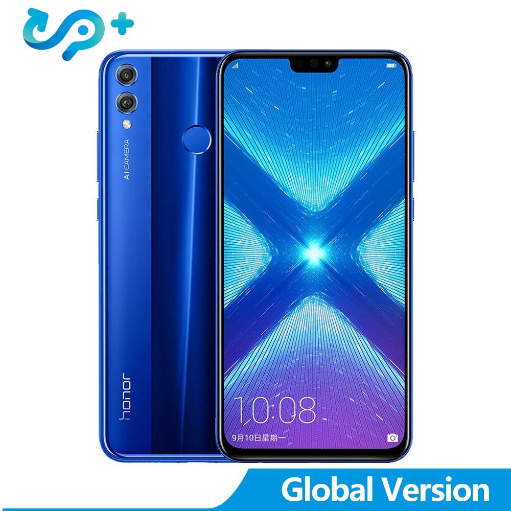 Huawei Mondial Version Honneur 8X6.5 pouces mise à jour ota smartphone ite Android 8.1 Core 1.5 GHz Écran 3750 mAh 1080 P honor8x mobile