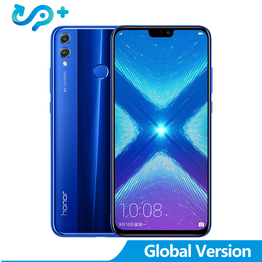 Huawei Version mondiale Honor 8X6.5 pouces OTA mise à jour LTE Smartphone Android 8.1 Core 1.5 GHz écran 3750 mAh 1080 P Honor8x mobile