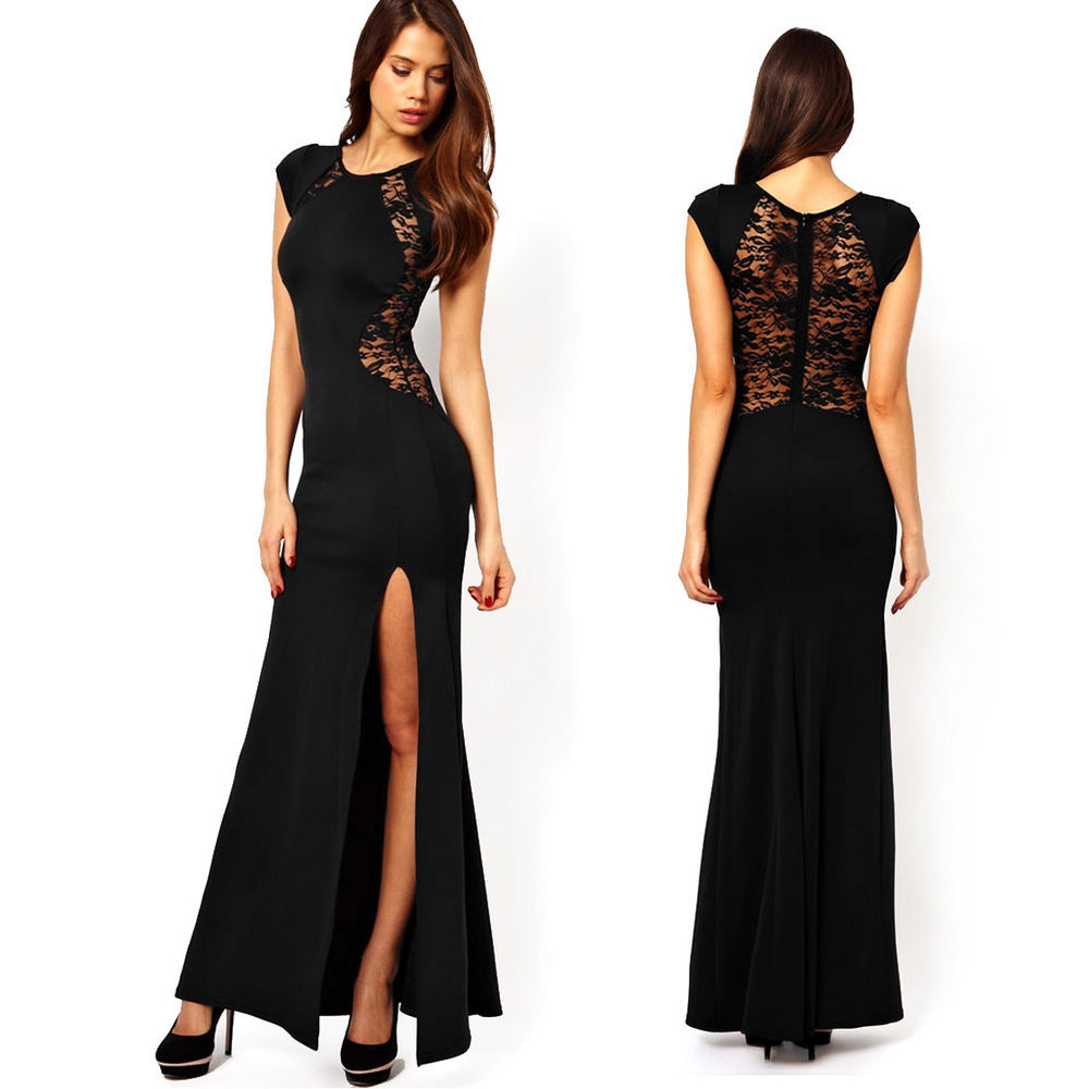 Model Sexy_lace_back_hollow_out_women_dress_dresses_2jpg