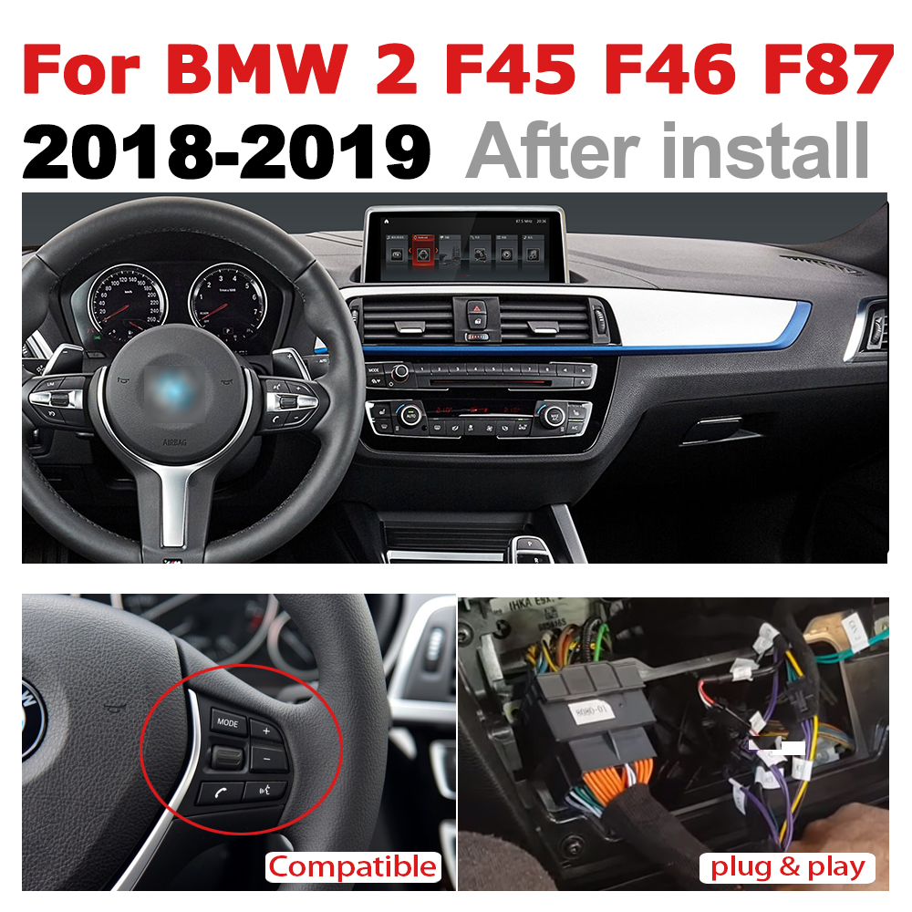 Car Radio 2 din GPS Android Navigation For BMW 2 Series F45 F46 F87 2018-2019 AUX Stereo multimedia touch screen original style2