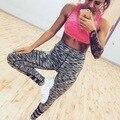 Weekeep 2016 Nova Aptidão Das Mulheres Leggings Patchwork Cintura Alta Leggins Outdoorwear Malha Gótico Mulheres Legins