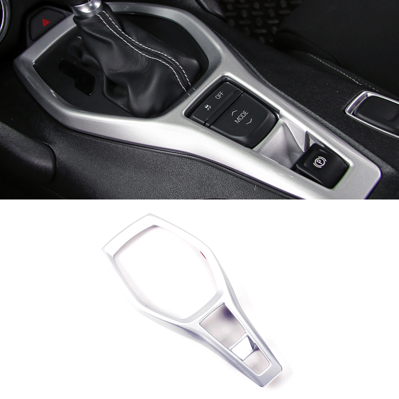 Interior Accessories Shift Gear Panel Cover Decoration Trim ABS 1 Piece For Chevy Chevrolet Camaro 2016 2017 interior for chevrolet camaro 2016 2017 abs carbon fiber style start stop engine push button frame key panel cover trim 1 piece
