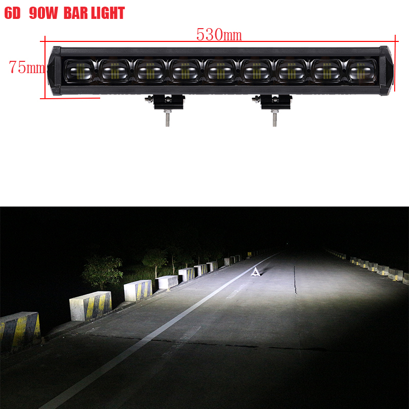 Wining Promotion 9D Led Light bar Single Row led bar light 4x4 off road SUV Tractor Truck led light bar/work light