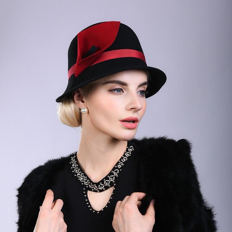 bcee4f8c6 Beckyruiwu Female Party Formal Headwear Women Asymmetry Fedora Hat...