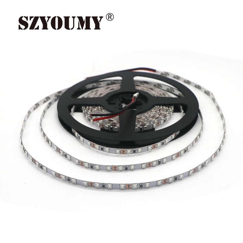SZYOUMY DC12V 2835 LED Strip 5mm narrow strip IP20 non waterproof 120leds m 5m roll LED