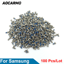 Aocarmo 100 шт./лот Замена 1,4*3,0 мм внутренний винт рамки материнской платы для Samsung Galaxy S3 S4 S5 S6 Edge S7 Note3 Note4 Note5