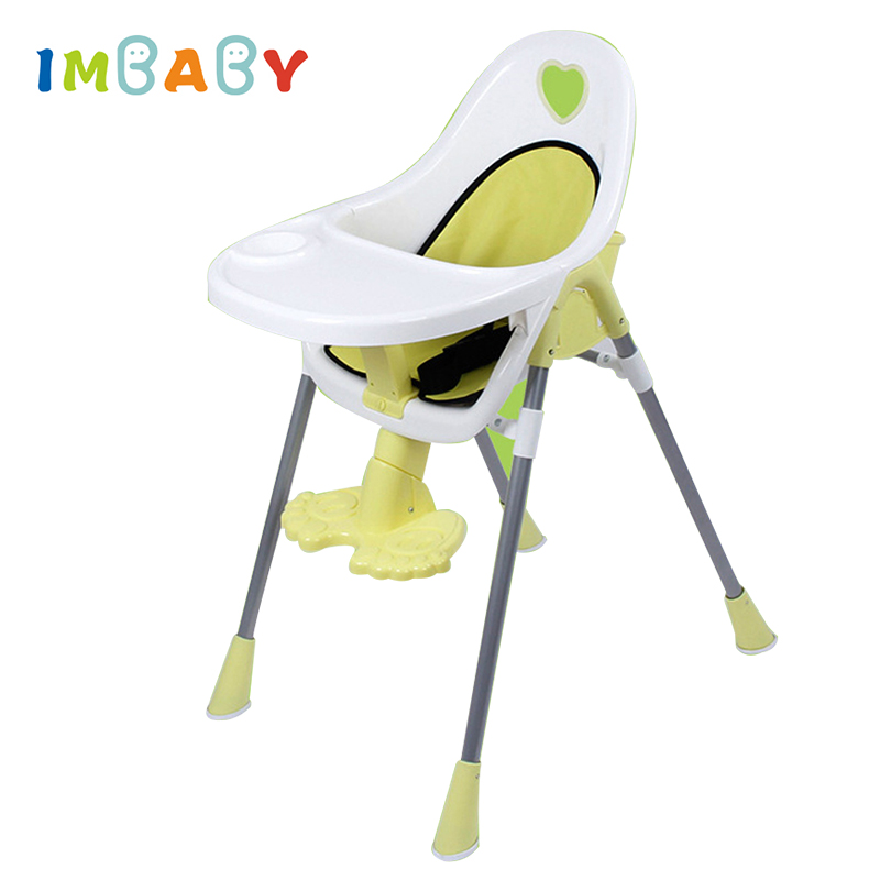 IMBABY Baby Feeding Chair Portable Children High Chair Baby Eating Seats Adjustable Folding Children Chairs Food Tray Included 2017 direct selling high quality export aluminium frame baby feeding chair food tray included booster newborn seat can sleep