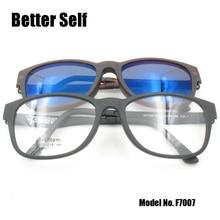 F7007 Ultem Metal Outdoor Eyeglasses Retro Sun Glasses Quality Optical Frames Polarize Clip On Sunglasses