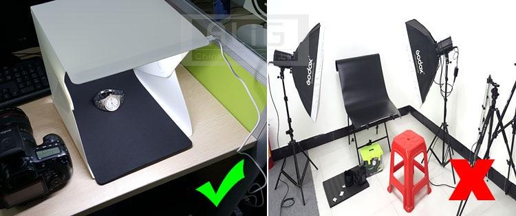 Ažurirano Mount 23cm Mini Sklopivi Studio Diffuse Soft Box s LED - Kamera i foto - Foto 4