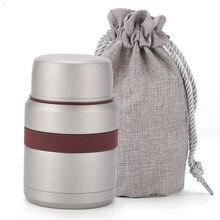 2018 nuevo termo de acero inoxidable contenedor de alimentos inox folden bolsa para cuchara matraz niños fiambrera bento termo aislante al aire libre
