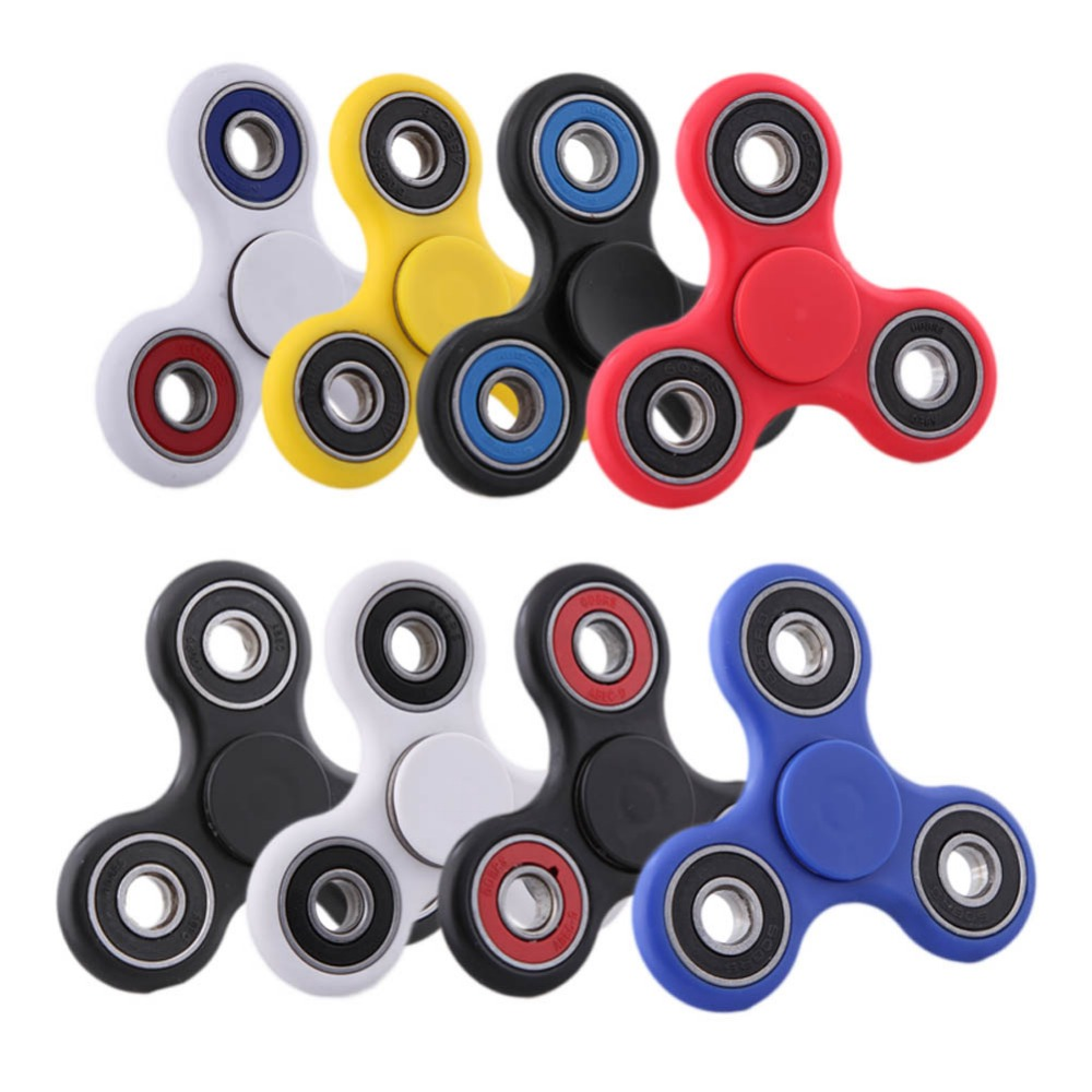 Multi Color Finger Spinner Fidget Plastic EDC Hand Triangle Gyro For Autism/ADHD Anxiety Stress Relief Focus Toys Gift new luminous metal fidget spinner triangle gyro edc hand finger spinner for autism adhd anxiety stress relief focus toys gift