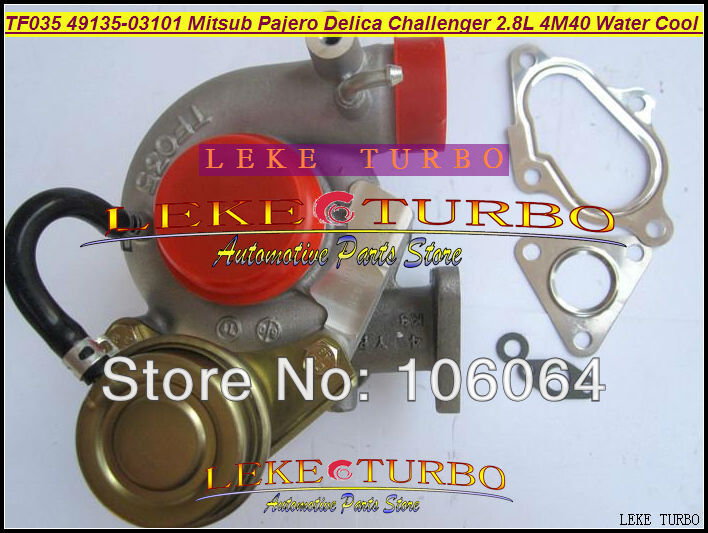 TF035 TD04 49135-03101 49135-03100 49135-03110 49135-03111 Water Cooled Turbo For Mitsubishi PAJERO Delica Challenger 4M40 2.8L  цены